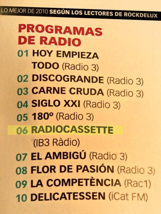 Els millors programes de ràdio del 2010 segons els lectors de la Rockdelux