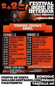 2+2 festival indie de interior_horaris