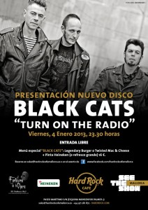 Black Cats Cartell presentacio Turn On The Radio