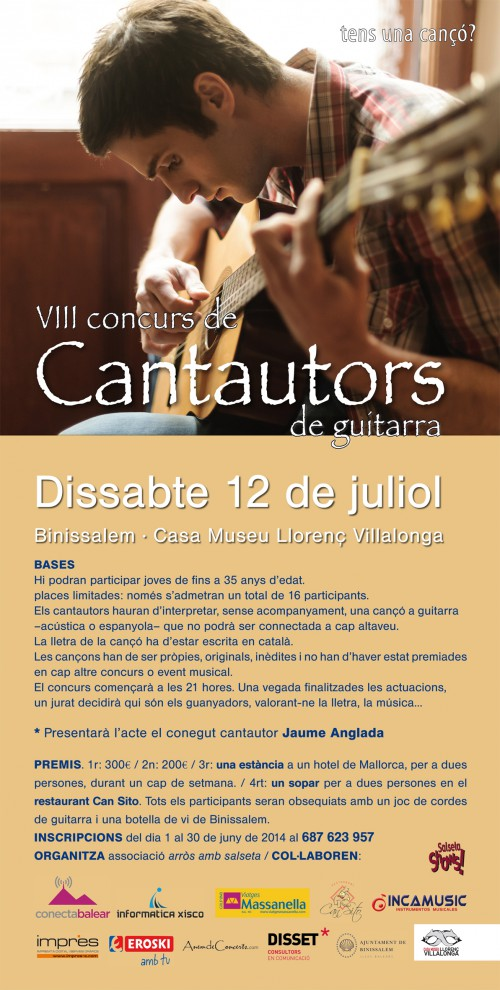 CARTELL CANTAUTORS 2014
