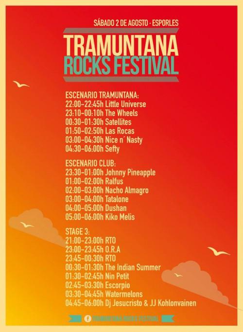 HORARIS TRAMUNTANA ROCKS 2014