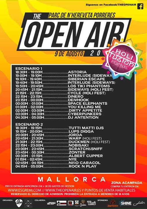 horaris open air 2014