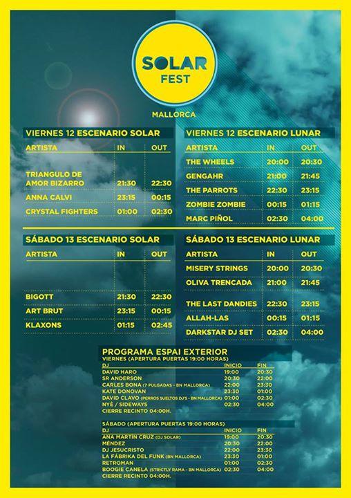 horaris Solar Fest 2014