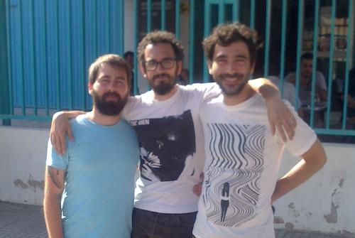 Martí, Pol i Yago de Mujeres a prop d'Es Gremi abans del LVC Fest 2013