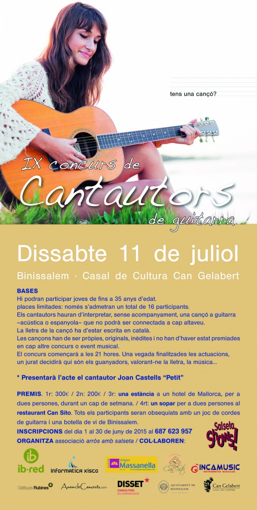 CARTELL CANTAUTORS 2015
