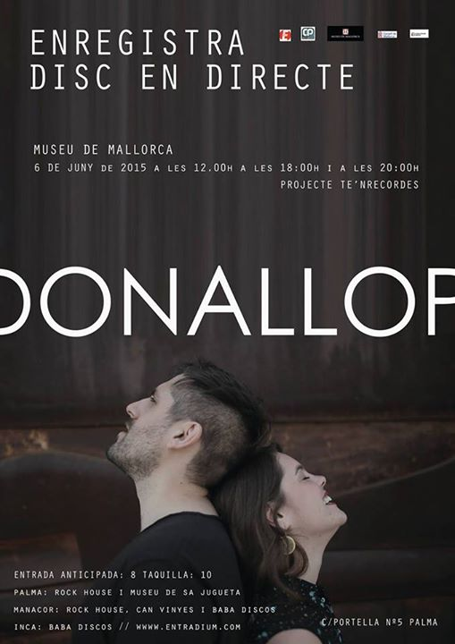 poster Donallop enregistra disc en directe