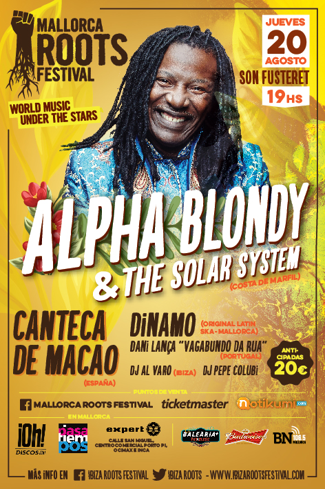 cartell vertical Alpha Blondy