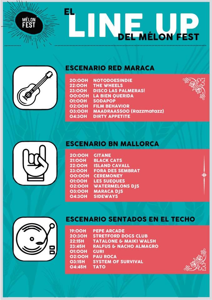 horaris MelonFest 2015